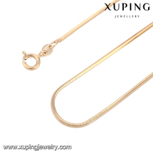 Wholesale fashion jewelry brass snake ncklace chain gold plated chains