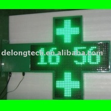 CE RF wireless programmable P16mm 48*48pixel double sides green outdoor led electronic pharmacy sign