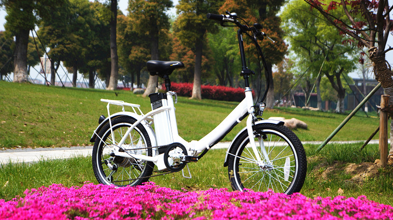 Brushless hub motor 20 inch solar electric bicycle with long life