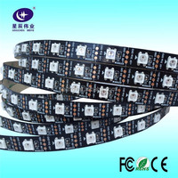 DC5V Black PCB Digital Programmable Addressable ws2812b RGB Led Flexible Strip with 30led 60led 90led 144led/m