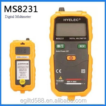 High Quality Smart Auto Range Pocket Size Digital Multimeter with Non-Contact Voltage MS8231