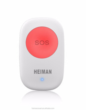 Heiman Zigbee portable panic push button for home alarm remote control