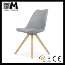 top seller new design cheap plastic tulip chair with wood leg cafe chair