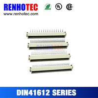 High Quality 2.54 mm Pitch 2 Row 16 Pin or 32 64 Pin 180 Limit DIN41612 PCB Connector