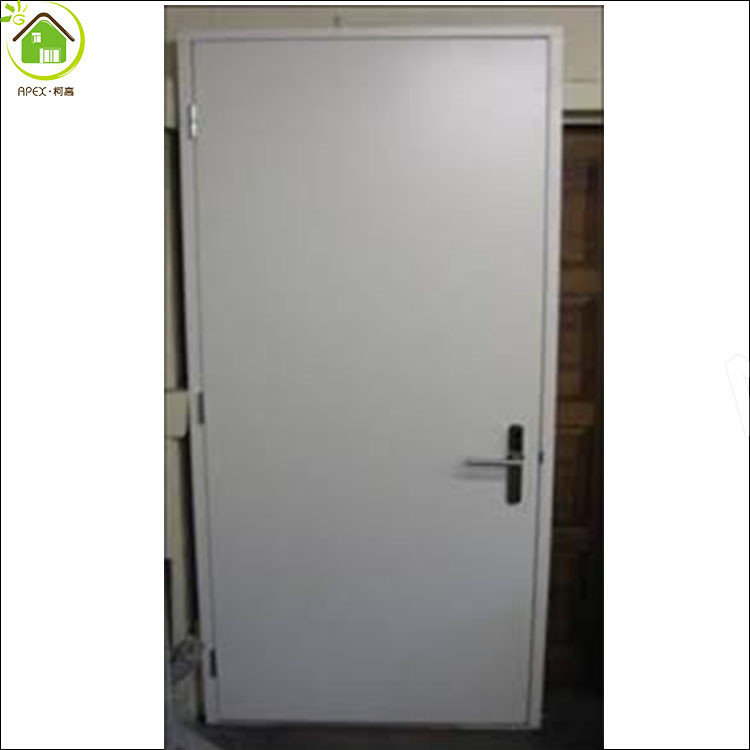 Silver gray color exit fire rated steel doors /fireproof door UL listed fire door