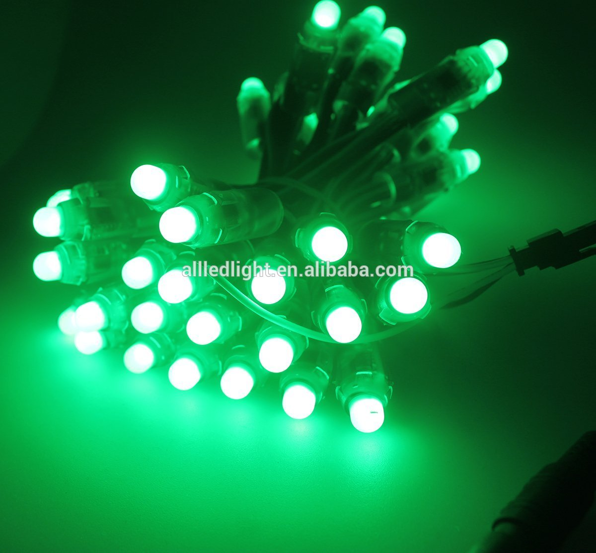 5V full color 12mm WS2811 1903 SM16703  WS2811 led pixel string light digital module 50LEDs/string Round Shape Waterproof IP68
