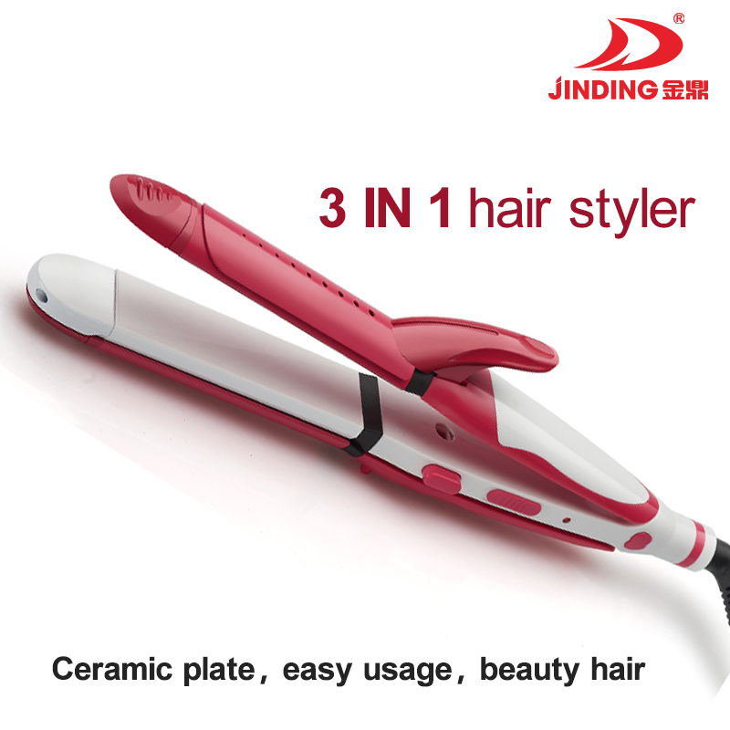 2016 new product! 3 in 1 Hair Styler Magic Wave Curl and straightener (JD-3338)