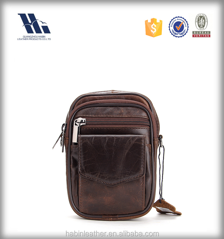 Korean fashion single shoulder leather men bag