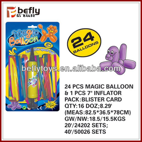 Diy shape birthday party set toy balloon with inflator