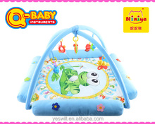 Q-KIDS Plush baby mat,electronic musical baby crawl play mat foldable