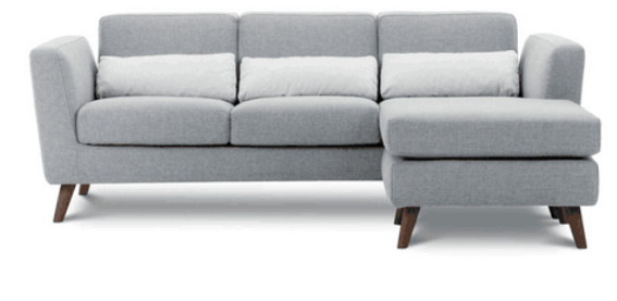 New Sectional Fabric Sofa Set in L-Shape for Living Room