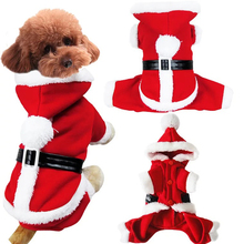 Pets Funny Santa Claus Cosplay Dogs Christmas Costumes For Winter