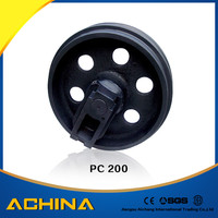 PC200 Excavator Front Idler Assy With Spring Yoke