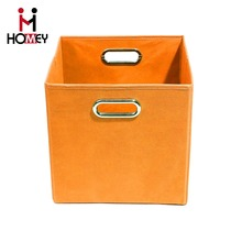 Customized Hot Sale Waterproof Collapsible Fabric Office Storage Boxes For Book /File