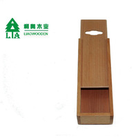 2016 made in China best price sliding lid beech wooden box for gift