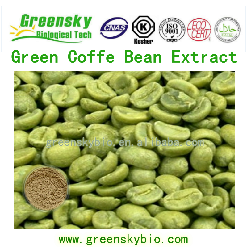 Best Quality Green Coffe Bean Extract with 40-98%Polyphenols, 99% Chlorogenic Acid