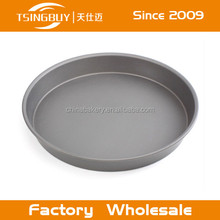 Disposable aluminum wide rim cake baking pans/pizza pie pan/microwave pizza tray
