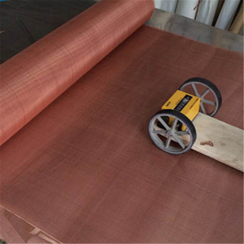 Electrical conductivity fine 100 150 200 250mesh red pure copper wire mesh