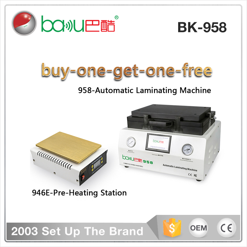 BAKU BK958 Mobile Phone Repairing Machines OCA LCD Vacuum Laminating repair Machine
