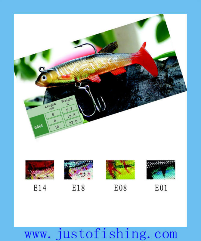 9+years Wholesaler Hirun fishing lures top quality 3D eyes saltwater soft plastic fishing lures 6665