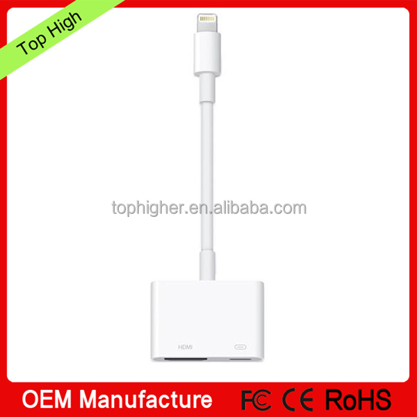 2017 hot selling digital AV adapter for iphone/ipad/ipod touch