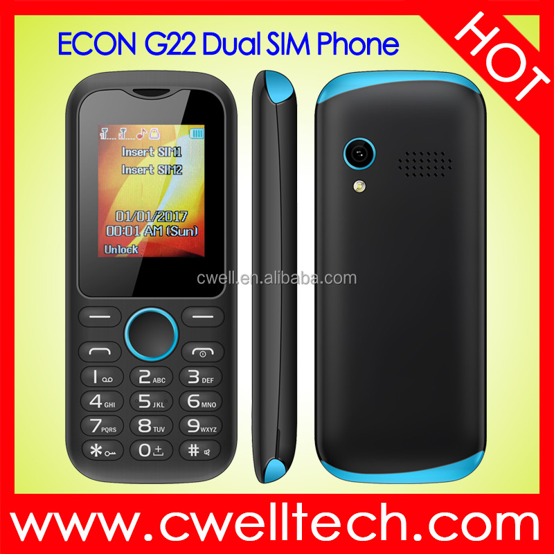 GSM Feature Cell Phone Low Price Handset 1.8 Inch Small Mobile Phone ECON G22