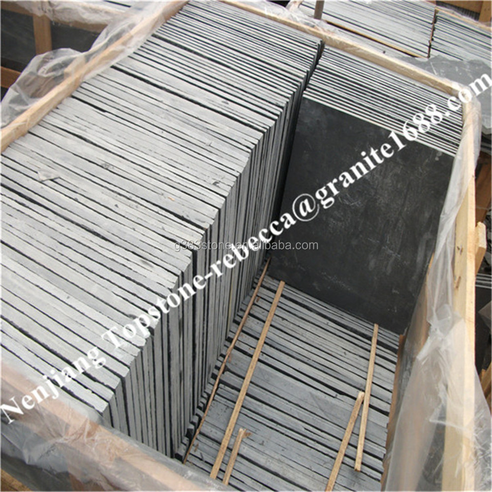 factory directly sale stock chisel edge black roofing slate