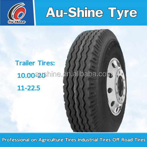 natural rubber trailer truck tyre 10.00-20