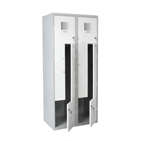 China supplier electric 2 compartment cupboard easy installation file cupboard verify locker factory