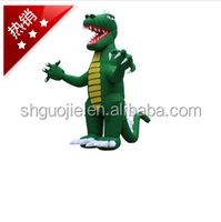 custom design and logo printing inflatable cartoon model toy for promotion Tyrannosaurus rex