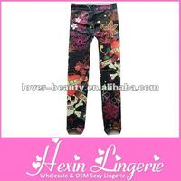 2012 Jacquard Top Flexible Paypal Sexy Flower Jegging