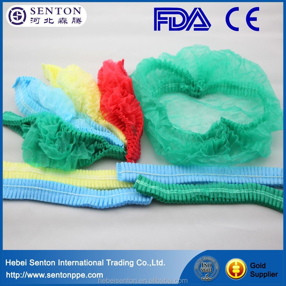 6 Colors for choice Colorful Disposable Non-woven Surgical Caps Disposable Cap For Hospital Bouffant Cap MK-D03