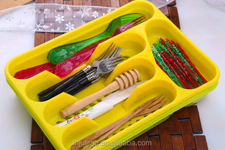 2017 Wholesale plastic cutlery tray / plastic cutlery tray
