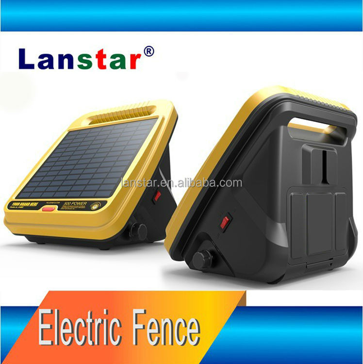 0.4J Solar Power Electric Fence Energizer, 12KV Lanstar sheep farm pulse electric fence, new energy electric fence generator
