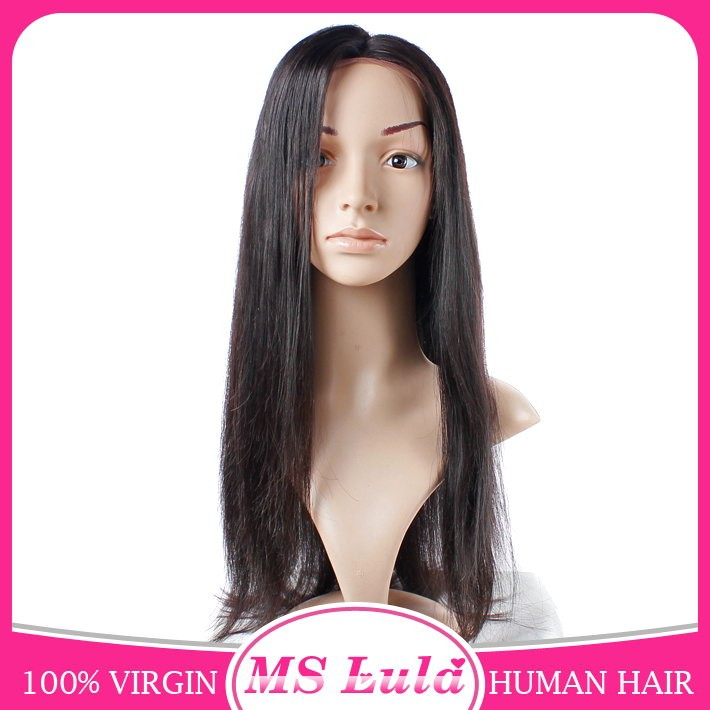Overnight delivery lace wigs virgin human hair brazilian wigs