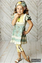 CONICE NINI brand wholesale newest children boutique outfits clothes set mustard pie remake suit kids clothing