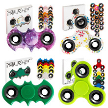 Hot sales release stress colorful spinner bearing air light spinner toy