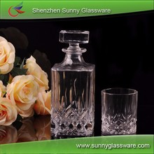 75CL glass wine bottle with wine glass