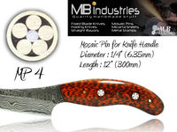 "Mosaic Pins for Knife Handles MP4 (1/4"") 6.35mm"