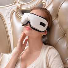 Wireless Eye Massager Portable Eye Mask with Compression, Vibration, Heating