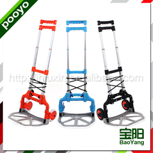 Factory price aluminum telescopic hand trolley foldable