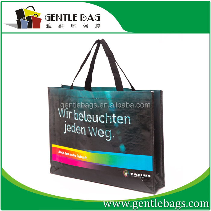 China supplier pp woven durable shopping bag,Reusable handbag for promotion
