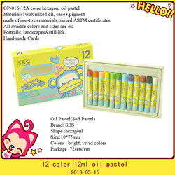 12color small round wholesale oil pastel crayons