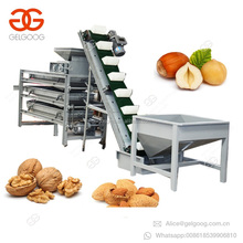 Automatic Hazelnut Sorting Processing Breaking Palm Kernel Shell Cracker Small Nut Cracking And Shelling Almond Crushing Machine