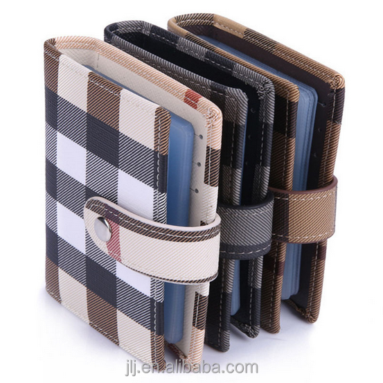 Factory Direct Promotional Card Bag Gifts High Quality Business Stripe Card Holder