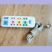 Colorful extension socket / universal multi function electrical socket / 2016 new designed