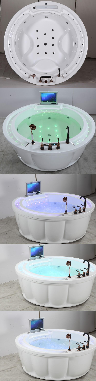 Hs b239 clear acrylic bathtub dimensions freestanding tubs for Best acrylic bathtub to buy