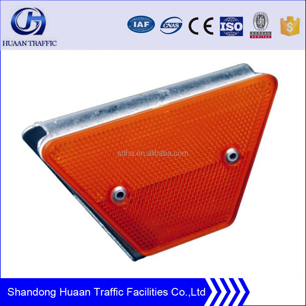 highway guard rail and barrier reflector
