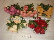 artificial coral flowers for wedding decoration