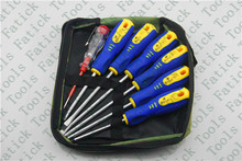 Hot selling 7pcs hand tools set magnetic screwdriver set for household